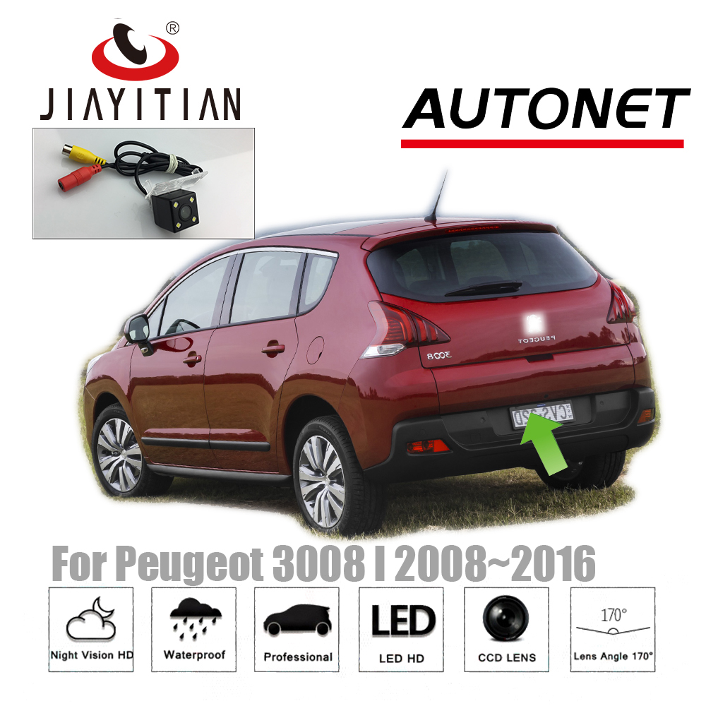JIAYITIAN Arrière Caméra Pour Peugeot 3008 II 3008 I/2008/2012 2008 ~ 2016 ~ 2018 CCD Nuit vision/Plaque D'immatriculation caméra/Caméra de recul