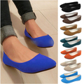 Plus size 35-42 Spring Ladies Pointed Toe Flat Shoes Women Flats Loafers Slip On Shoes Casual Womens Shoes Flats 12 Colors O058