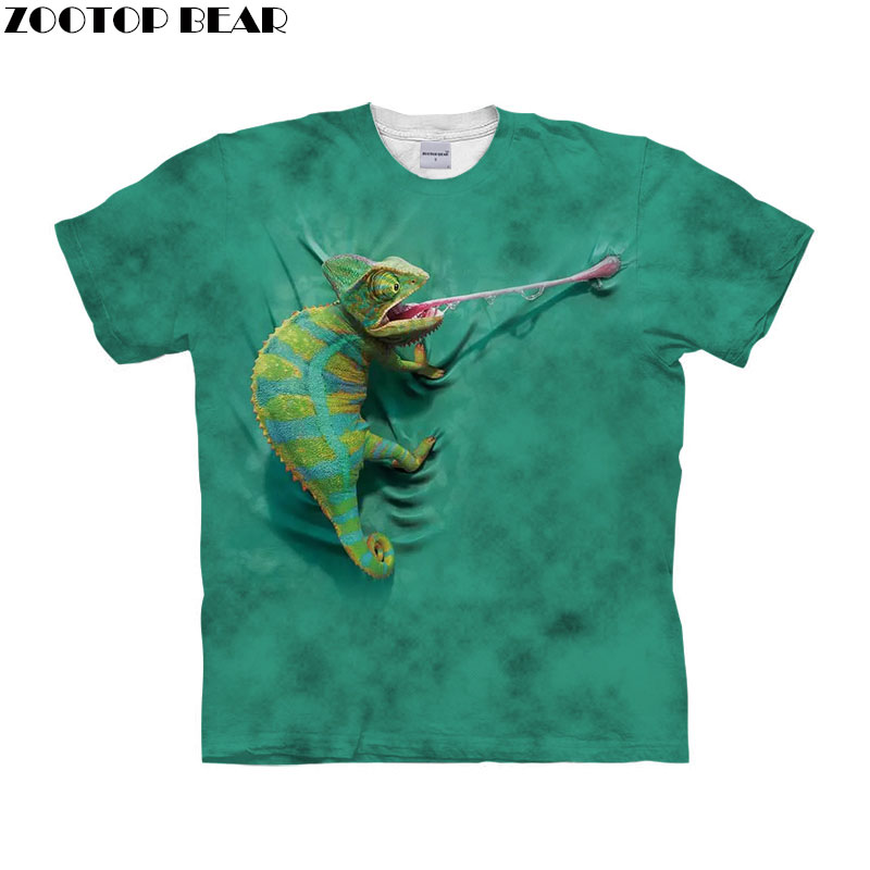 Funny Animal   t     shirt   3d   t  -  shirt   Men tshirt Short Sleeve Tee Unisex Top Anime tshirt Streetwear Top 6xl Tee Drop Ship ZOOTOP BEAR