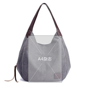 Image 3 - Canvas Bag Women Shoulder Bag Luxury Handbags Ladies Hand Bags Casual Tote Bags For Women 2020 Bolsa Feminina  Sac A Main Femme