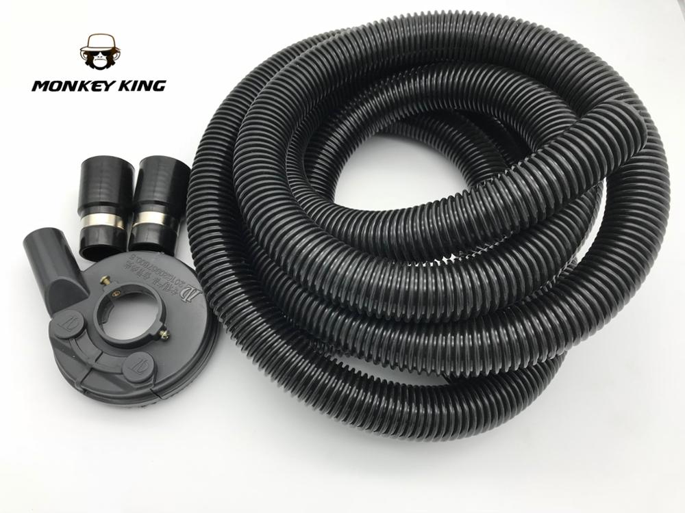 Vacuum Grinding Dust Guard Shroud Kit with 5mm Hose Pipe for Angle Grinder Hand Held Grinder Convertible Universal universal 2 inch 51mm turbo intercooler aluminum pipe silicone hose kit black length 450mm for impreza gc gf gm ep lgtj51 450