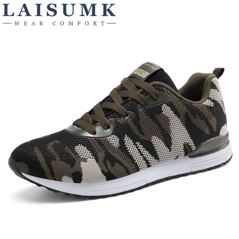 2018 LAISUMK New Arrivals Spring Autumn Luxury Camouflage Breathable Lovers Casual Shoes Men Chaussure Femme 35-44 Flats Shoes