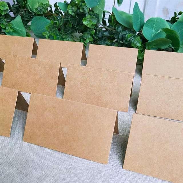 Vintage Blank Kraft Paper Table Place Cards-120pcs