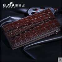 heimanba Crocodile leather hand bag for men multi card business wallet genuine leather zipper grip bag for men youth crocodile l