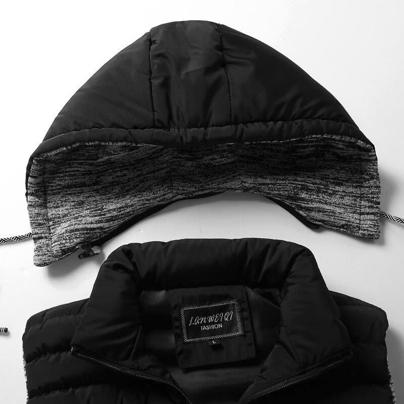 men\`s casual clothing fashion down jackets men leisure dress vests winter warm elegant korean streetwear trend coat vest for men (13)
