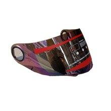Malushun moto visiera del casco Lente Animale corna del fronte pieno del casco visiera a specchio PC Anti-Uv Lente shield fit per il Gatto orecchio casco