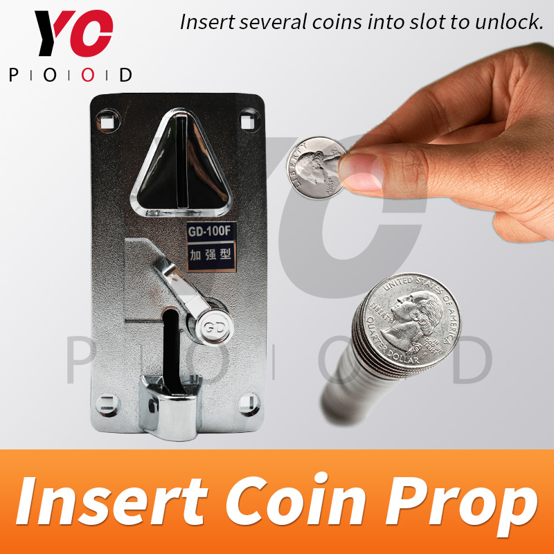Insert Coin Prop real Room escape game insert several coins in the slot of coin machine to escape the takagism supplier YOPOODInsert Coin Prop real Room escape game insert several coins in the slot of coin machine to escape the takagism supplier YOPOOD