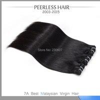 Wholesale Price 7A Malaysian Virgin Hair Silky Straight 3Pcs Lot 1B Natural Black Human Hair Extension Weave Bundles 12 To 28