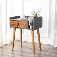 Мини Pine деревянный ящик для шкафа Ручка Шкаф для хранения стабильный прикроватный столик MDFSheet алюминий тумбочке легко Install50 * 35*63 см