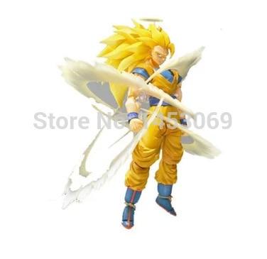 Anime Dragon Ball Z Super Saiyan 3 Son Goku PVC Action Figure Collection Toy 6 14CM 36cm anime cartoon dragon ball z super saiyan 4 son goku pvc action figure collection model toy gb082