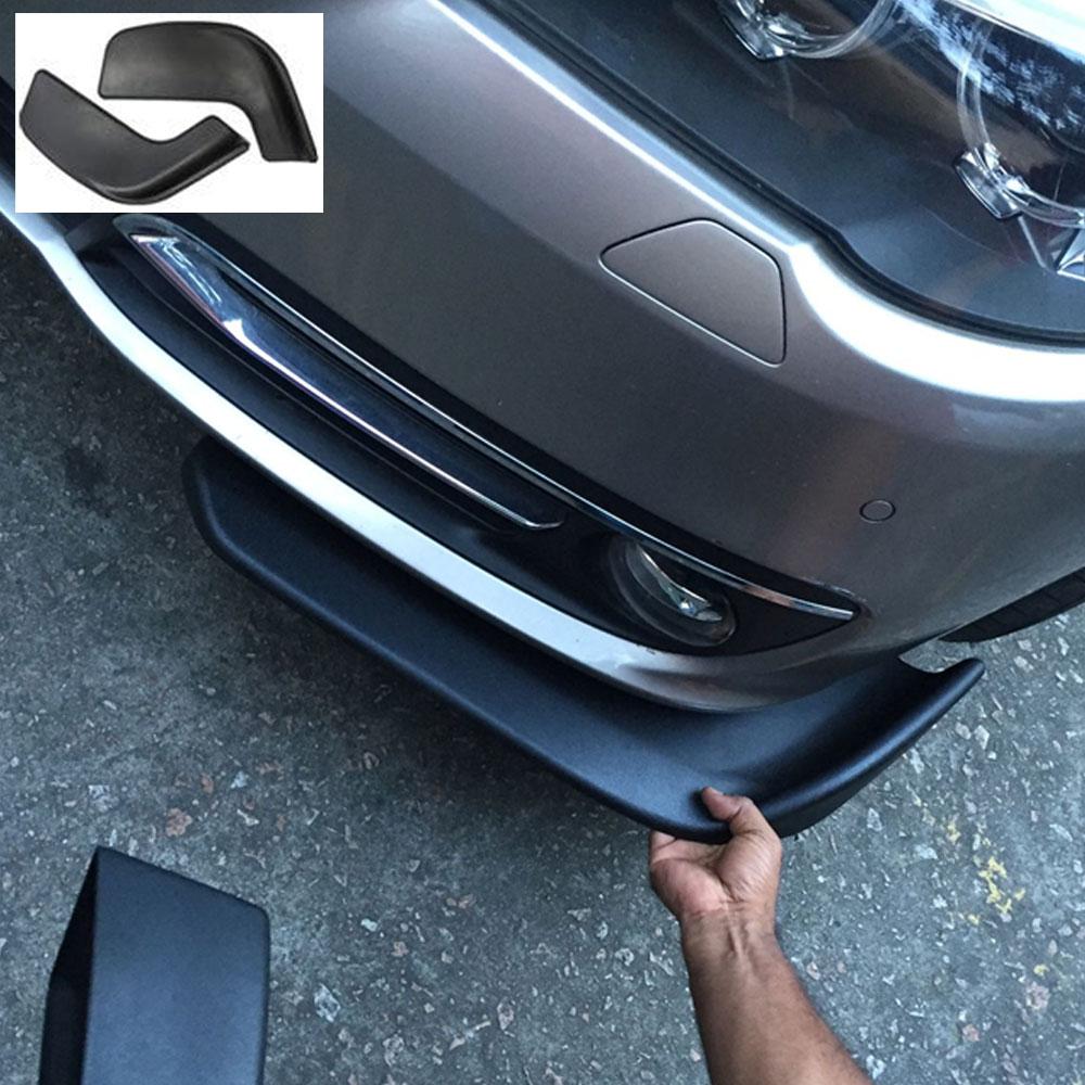 2 шт. ABS Черная передняя Лопата гоночный автомобиль бампер спойлер протектор против царапин полоса подходит для универсального автомобиля С...