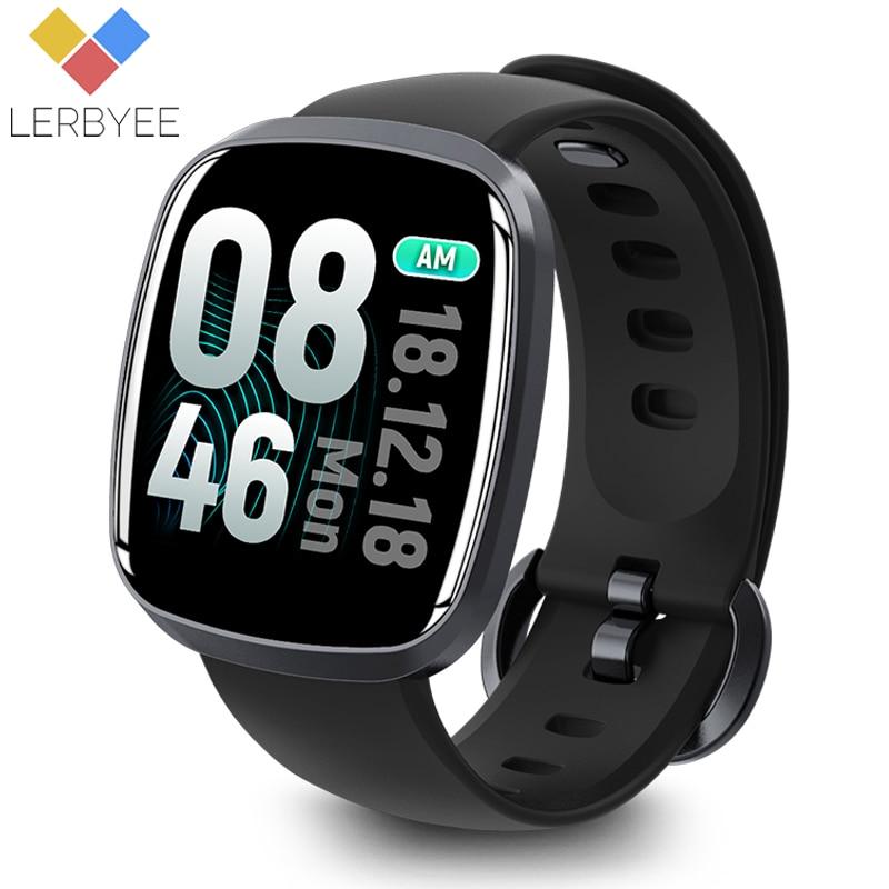 e092c3872635 Reloj inteligente Lerbyee resistente al agua GT103 rastreador de actividad  arterial Monitor de sueño Control de música Pantalla Completa táctil ...