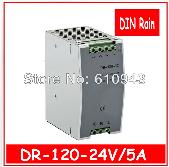 DR-120W-24V 5A   Single Output Switching power supply for LED SMPS AC to DC