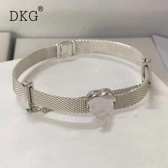 New 100% 925 Sterling Silver Reflexions Bracelet Fit European Charm Beads for Women Gift Original Fashion DIY Jewelry Gift цены онлайн