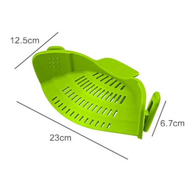 Pot Bowl Funnel Strainer Wide Mouth Silicone Kitchen Tool Rice Noodles Washing Colander Household Gadget Leakproof Drainer 2