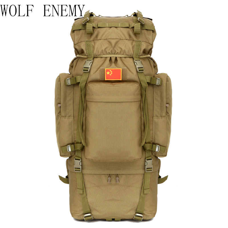 Outdoor 100L Large Capacity Tactical Climbing Backpacks Waterproof Nylon Travel Sport Hiking Climbing Camping Bags Men Mochila бра lussole lsl 0600 01