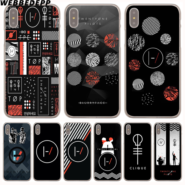separation shoes 7dc18 a5234 US $1.88 6% OFF WEBBEDEPP Pilots twenty one pilots Hard Phone Case for  iPhone X XS Max XR 7 8 6S Plus 5 5S SE 5C 4 4S Cover-in Half-wrapped Case  from ...