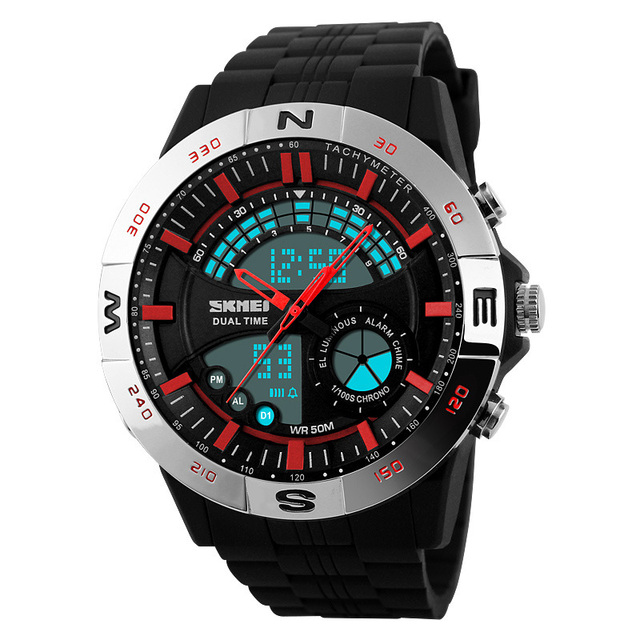 New Men Sports Watches Waterproof Fashion Casual Quartz Watch Digital & Analog Military Multifunctional Male relogio masculino