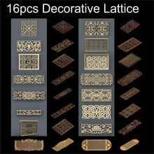 цена на 16pcs Decorative Lattice 3d model STL relief for cnc STL format frame  Decor 3d Relief Model STL Router 3 axis Engraver ArtCam