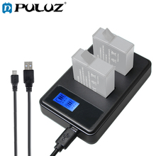 PULUZ Battery Charger Set For GoPro HERO6/5 AHDBT-501 3-channel Battery Charger With Micro USB LED Indicator Light цена