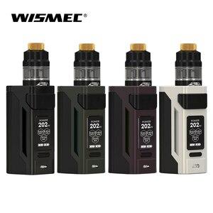 Original 230W Wismec Reuleaux RX2 21700 con GNOME kit completo salida Mod caja con 2ml atomizador tanque cigarrillo electrónico vape