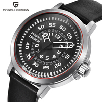 Mens Watches Top Luxury PAGANI DESIGN Waterproof Leather Quartz Watch Men Unique Design Hollow Calendar Men