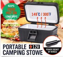 Heizung 12V tragbare camping herd material für innen: Aluminium außerhalb: PP für lange reise warmen beheizten mit zigarette leichter