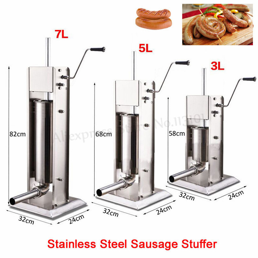 Vertical Meat Sausage Filler Sausage Stuffer 5L Manual Spanish Churros Maker Machine Economical Commercial Churro Extruder