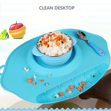 Silicone Feeding Food Plate portable Bowl Plates Food Dishes Holder Food Infant Tableware Placemats Kids Suction to Dining Table