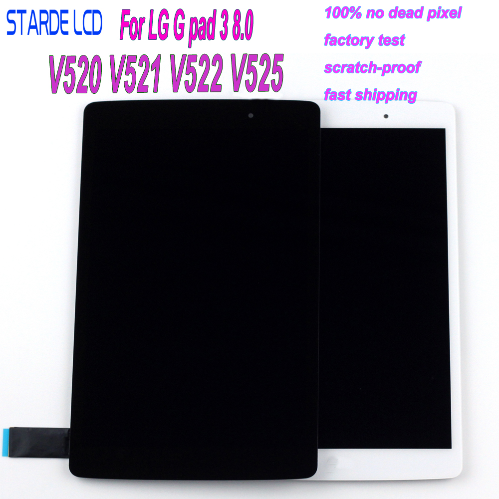 STARDE LCD For LG G Pad III 3 8.0 V520 V521 V522 V525 LCD Display Touch Screen Digitizer Assembly