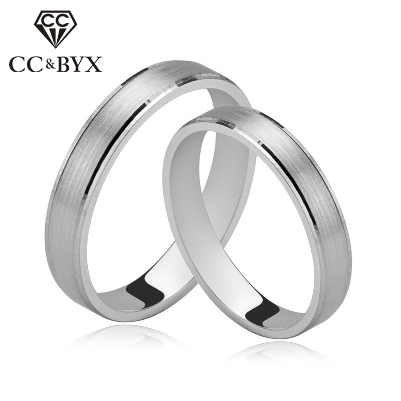 CC Lovers Couple Rings For Women Classic Simple Design Pair Ringen Bridal Wedding Jewelry Engagement Accessories Anillos CCD003