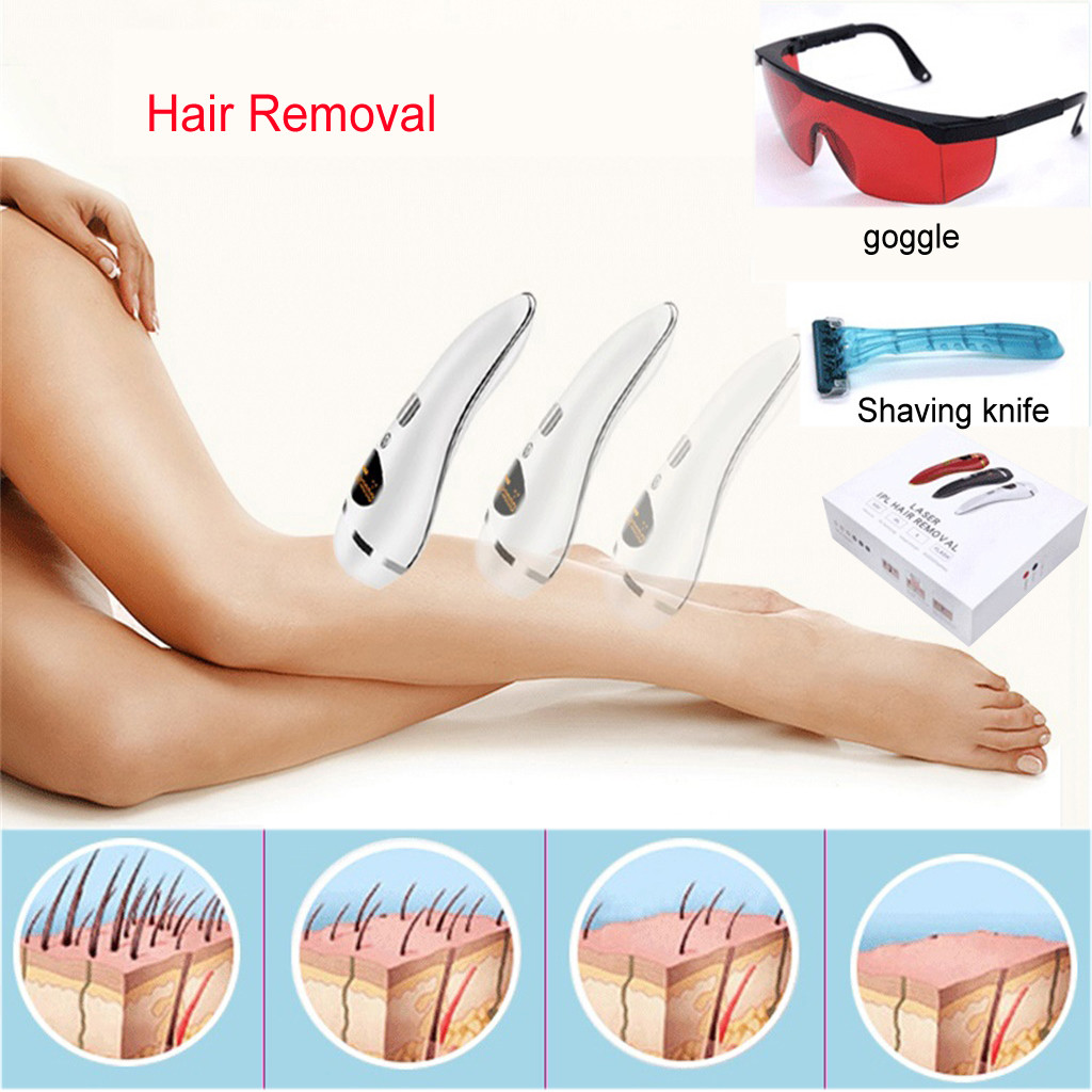 1PCS Professional IPL Hair Removal Cream Shave Remover Device Permanent Facial & Body Hair Removal Beauty