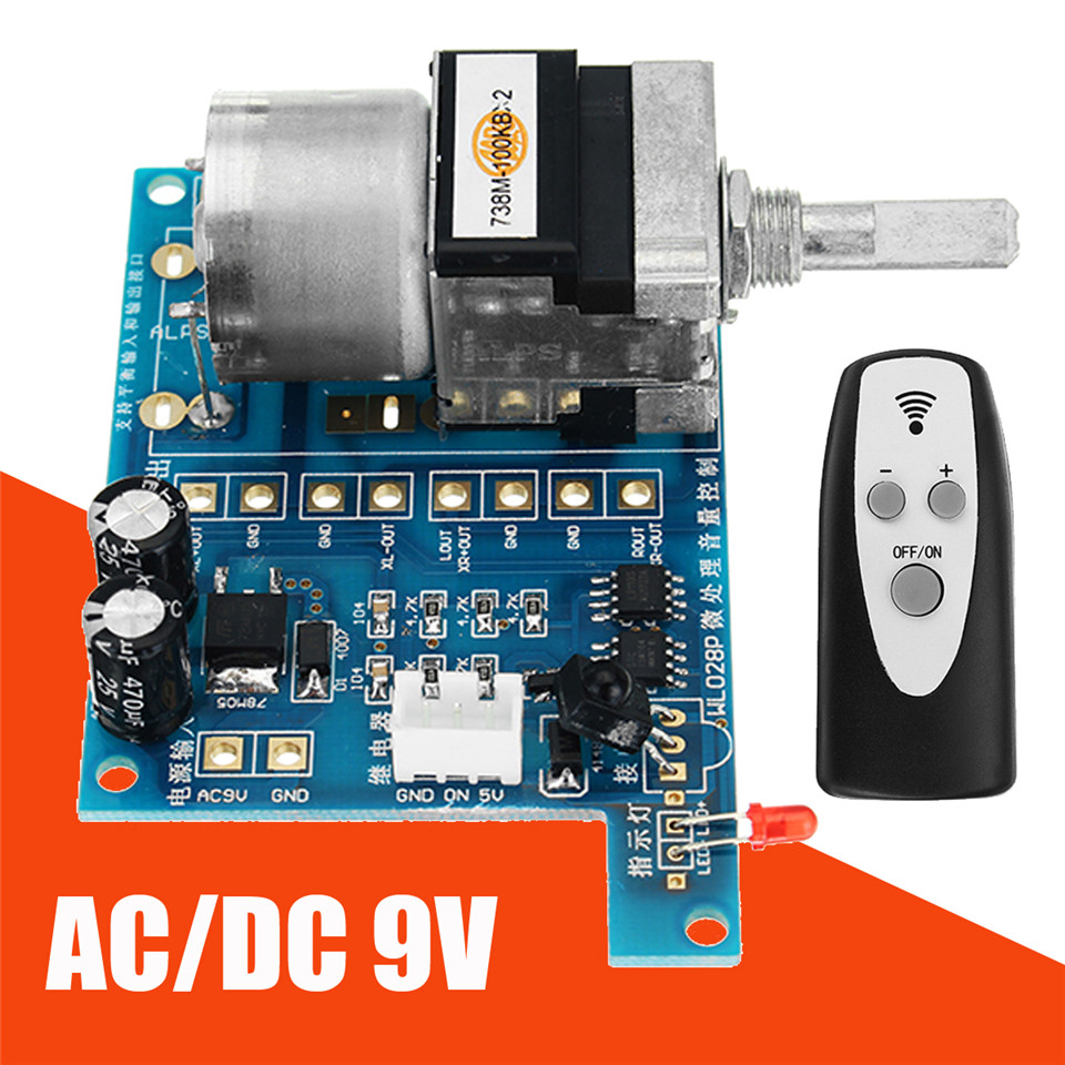 hight resolution of detail feedback questions about ac dc 9v infrared remote control volume control board alps pre potentiometer new integrated circuits 80mmx 51mm modules on