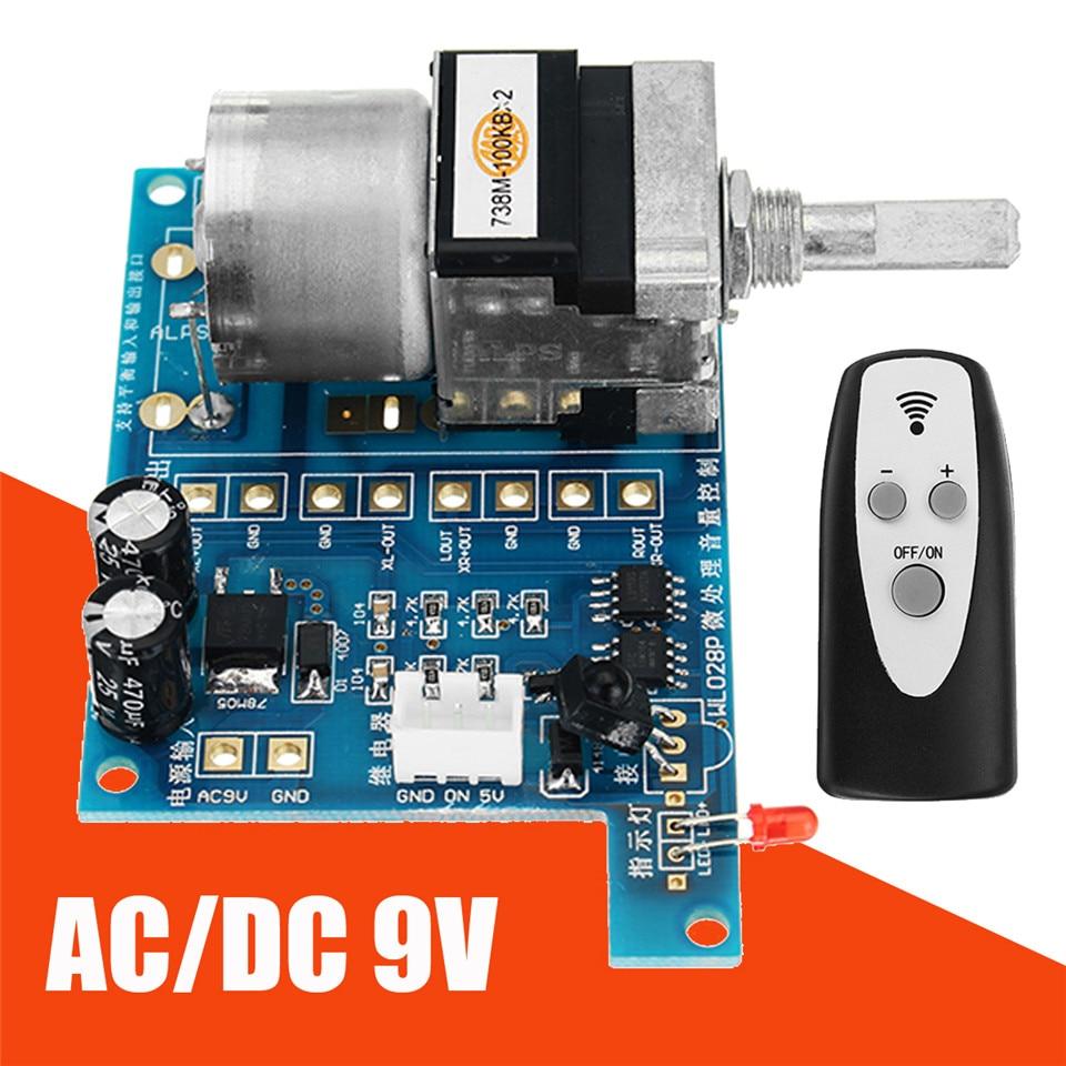 AC/DC 9V Infrared Remote Control Volume Control Board ALPS Pre Potentiometer New Integrated Circuits 80mmx 51mm ModulesAC/DC 9V Infrared Remote Control Volume Control Board ALPS Pre Potentiometer New Integrated Circuits 80mmx 51mm Modules