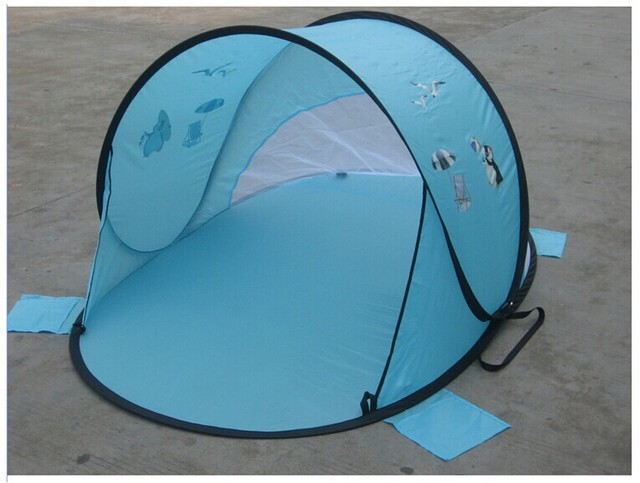 Quick opening children tent baby silver glue crawling beach tent outdoor sunshade beach boat account Free & Quick opening children tent baby silver glue crawling beach tent ...
