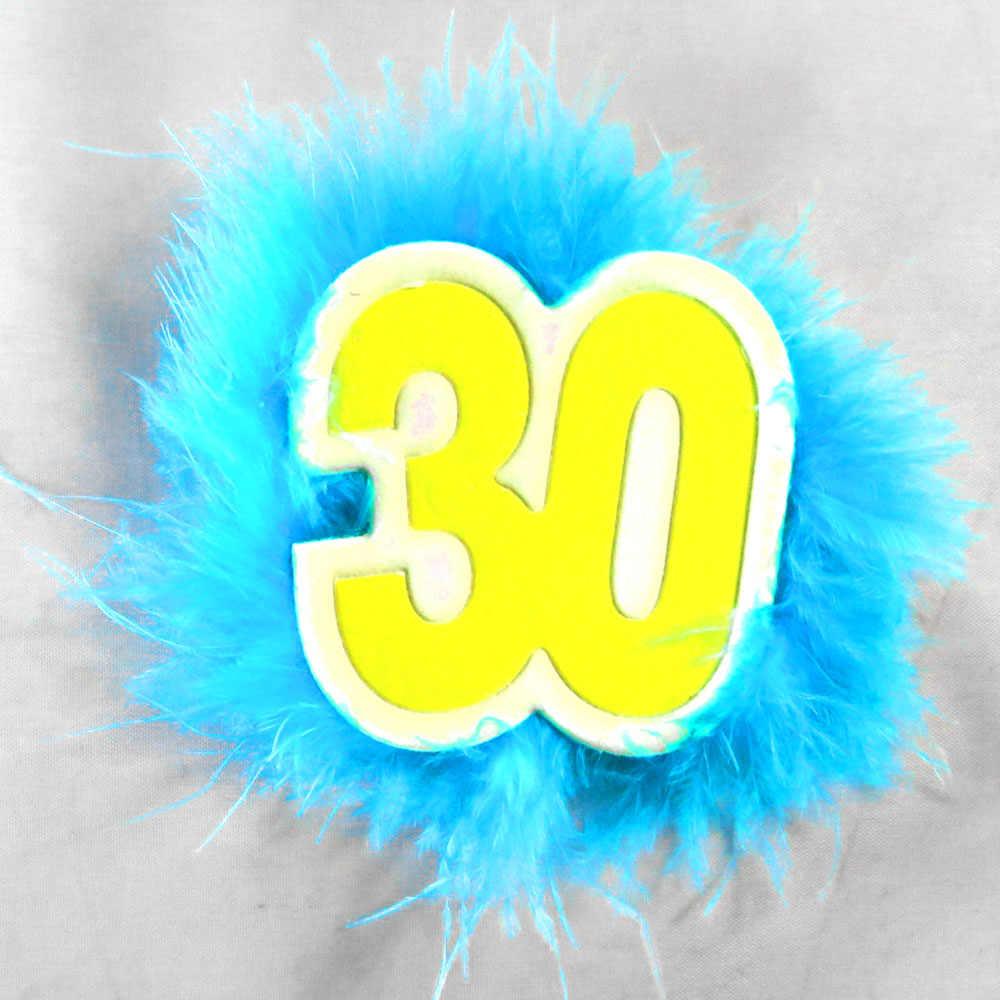 5 шт. 2018 новый дизайн 21 30 40 50 Юбилейная Брошь Синий Мужчины перо бейдж для дня рождения церемонии кнопку весело День рождения сувениры