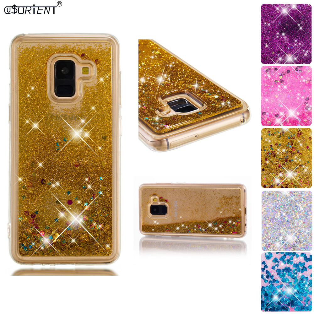 Half-wrapped Case Cellphones & Telecommunications Smart For Samsung Galaxy A8 2018 Bling Glitter Dynamic Liquid Quicksand Phone Case Sm-a530f/ds Sm-a530x Soft Silicone Back Cover Fonda