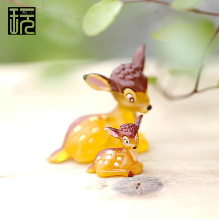 Cartoon Cut Deer Family Mini Fairy Garden Miniature DIY Doll House/ Terrarium/ Home/ Micro Landscape Decoration Succulents Decor