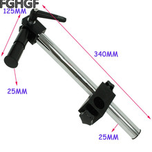 купить FGHGF XDC-10K Microscope Stand 25mm Aperture Tilting Multiple Angles Adjustment Link Instrument Modification Connecting Rod дешево