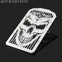 Cool Punk Style Skull Radiator Grill Skeleton Water Cooler Grille Guard Cover for Kawasaki Vulcan 900 VN900 Classic Custom 06 14
