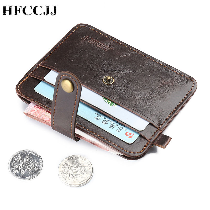 NEW Cow Leather Men's Wallets With Coin Pocket Vintage Male Purse Function Brown Genuine Leather Men Wallet With Card Holders
