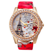 2018 Vico New Luxury Women's Watches Tower Pattern Leather Band Analog Quartz Vogue Wrist Watches relogio feminino Ladies Watch(China)