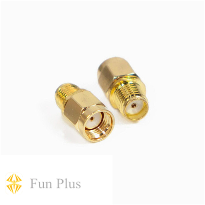5.8G RPSMA Plug Male/SMA Jack Female FPV Antenna Aerial Connector Adapter for Rx and Tx Antenna high quality lantian 5 8g 5db high gain mini flat tx rx antenna sma male rm sma male for fpv multicopter