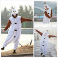Free shipping  flannel Cosplay Olaf Snowman Cos Pajamas onesie Adult Unisex Party Costumes Chritmas S M L XL instyles