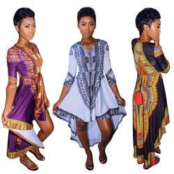 Африканский Костюмы Новый Костюмы Лидер продаж 2019 этнические ветер восстановление древних способов Тотем Печать Нерегулярные 3 цвета