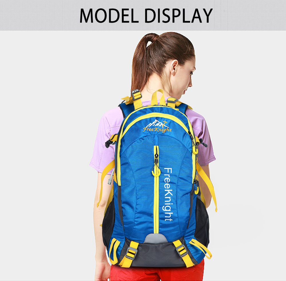 5ed565c414 Free Knight FK0215 30L Nylon Water Resistant Backpack Hiking Bag Camping  Travel Pack Mountaineer Climbing Sightseeing Hike-in Climbing Bags from  Sports ...