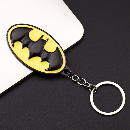 Металлический брелок Marvel, Мстители, Капитан Америка, щит, Человек-паук, Железный человек, маска, брелок, игрушки, Халк, Бэтмен, брелок, подарок, игрушки - Color: Lemon yellow