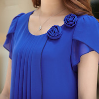Chiffon Blouse Plus Size Blusas Feminina 4XL 2016 Summer Tops Women Shirts Casual Loose Blouses O