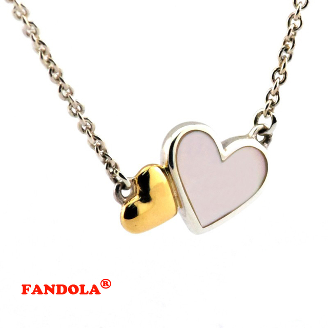 Luminous Heart Collier Femme Necklace Compatible With European Jewelry Sterling Silver Necklaces & Pendants FLN026K