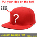 customize hat baseball hip hop full close snapback fitted hat one size fits all flat brim top quality custom logo